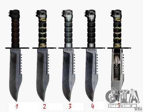 A faca de n º 3 do perseguidor para GTA San Andreas terceira tela