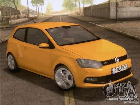 Volkswagen Polo GTI 2011 para GTA San Andreas vista superior