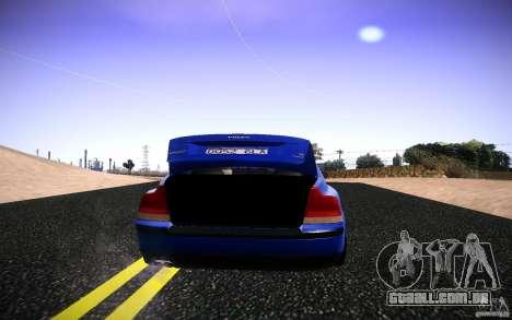 Volvo S 60R para GTA San Andreas vista traseira