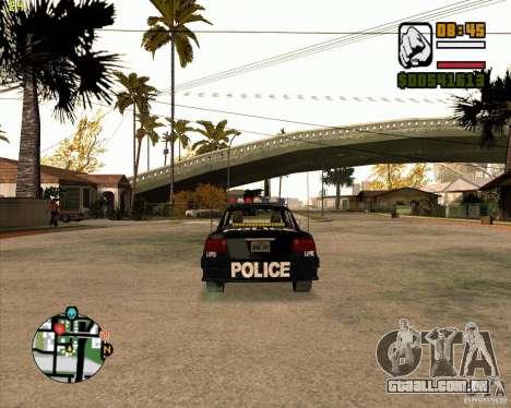 Carro de polícia de NFS: MW para GTA San Andreas vista direita