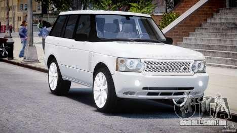 Range Rover Supercharged 2009 v2.0 para GTA 4 vista de volta