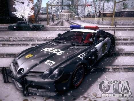 Mercedes-Benz SRL 722 Police para GTA San Andreas traseira esquerda vista