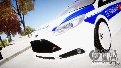 Ford Focus Macedonian Police para GTA 4 vista direita