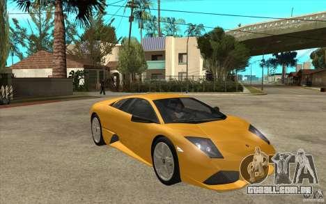 Lamborghini Murcielago LP640 para GTA San Andreas vista traseira