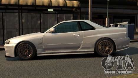 Nissan Skyline R34 2002 para GTA 4 esquerda vista