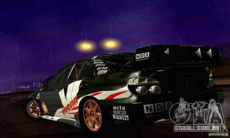 Subaru Impreza WRC 2007 para GTA San Andreas vista superior