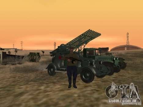 Oficial soviético BOB para GTA San Andreas por diante tela