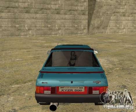 Melodia de sparco 21099 VAZ para GTA San Andreas vista direita