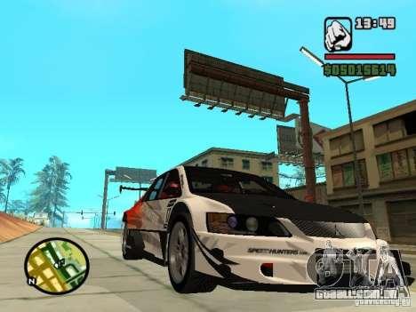 Mitsubishi Lancer Evo IX SpeedHunters Edition para GTA San Andreas vista traseira