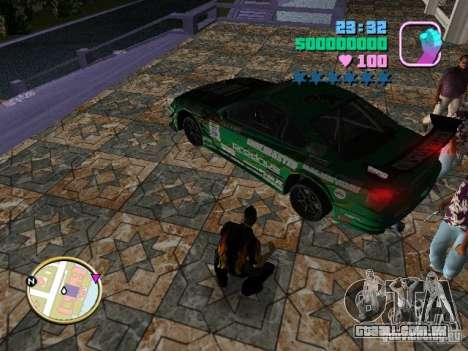 Nissan Silvia S15 Kei Office D1GP para GTA Vice City vista lateral