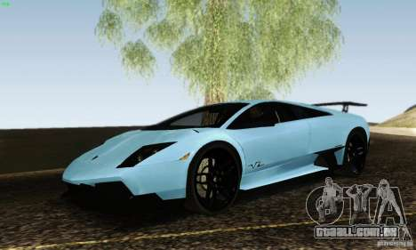 Lamborghini Murcielago LP 670-4 SV para GTA San Andreas traseira esquerda vista