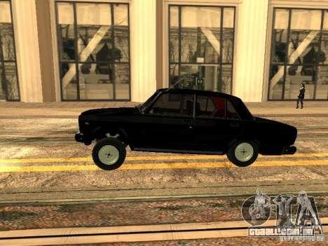 Estilo ZZ 2107 VAZ para GTA San Andreas esquerda vista
