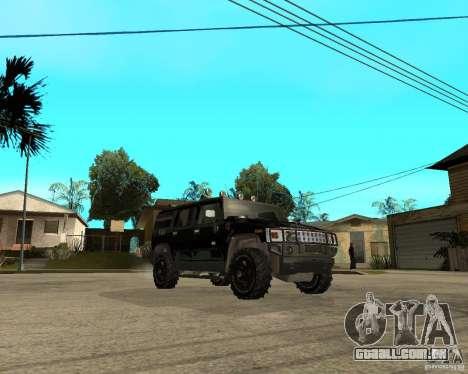 FBI Hummer H2 para GTA San Andreas