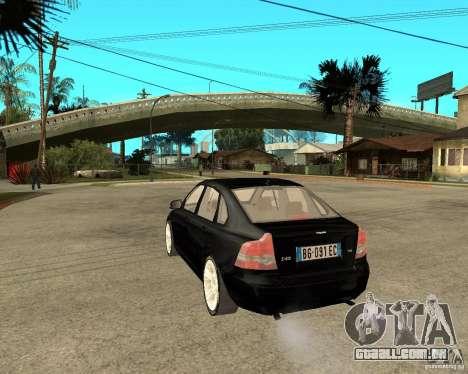 Volvo s40 t5 2008 para GTA San Andreas esquerda vista