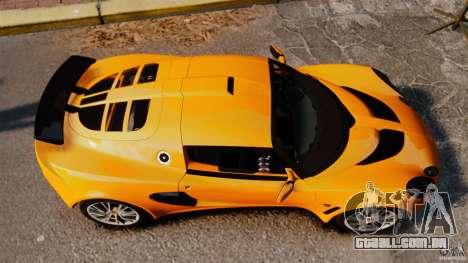 Lotus Exige 240 CUP 2006 para GTA 4 vista direita