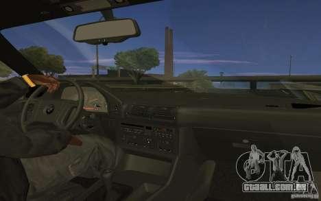 BMW 525 E34 V.3 para GTA San Andreas traseira esquerda vista