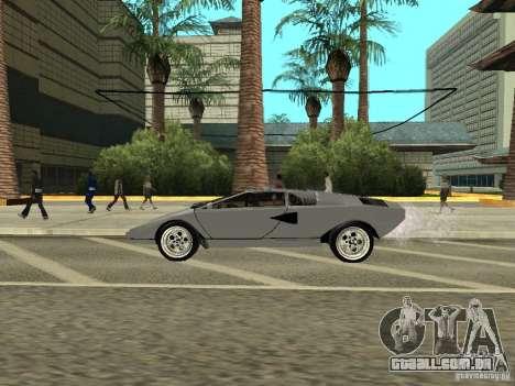 Lamborghini Countach LP400 para GTA San Andreas traseira esquerda vista