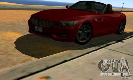 BMW Z4 2010 para GTA San Andreas vista inferior
