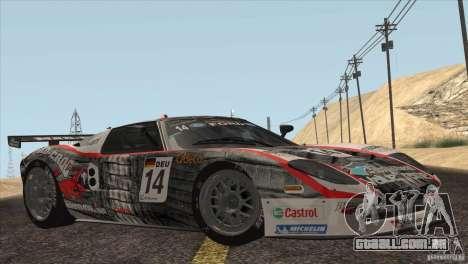 Ford GT Matech GT3 Series para GTA San Andreas interior