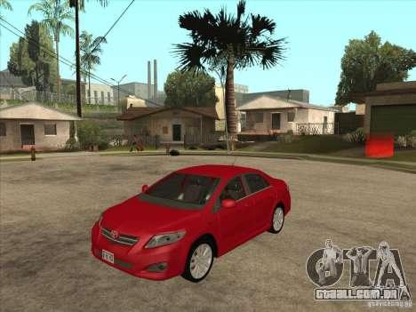 Toyota Corolla 2008 para GTA San Andreas