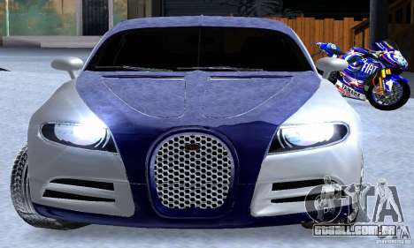 Bugatti Galibier 16c para GTA San Andreas vista superior