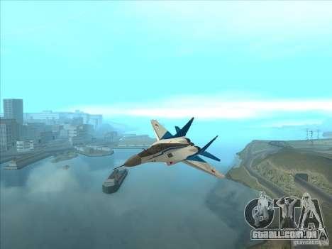 MiG-29 os andorinhões para GTA San Andreas vista traseira