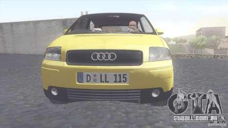 Audi A2 para GTA San Andreas traseira esquerda vista