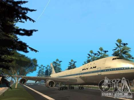 Boeing 747-100 Pan American Airways para GTA San Andreas esquerda vista