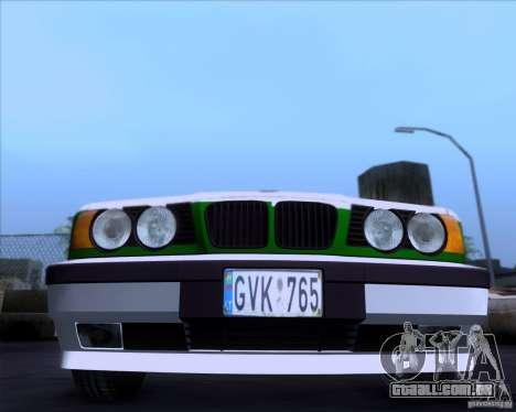 BMW E34 Policija para GTA San Andreas esquerda vista