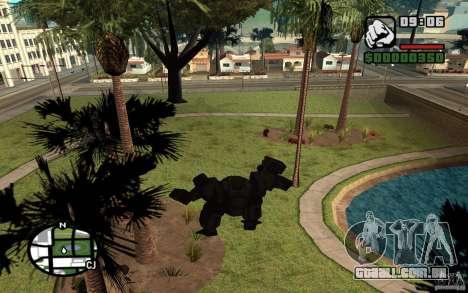 Exoesqueleto para GTA San Andreas por diante tela