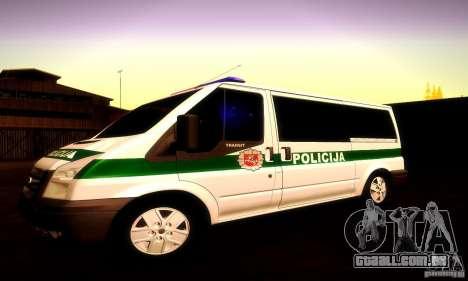 Ford Transit Policija para vista lateral GTA San Andreas