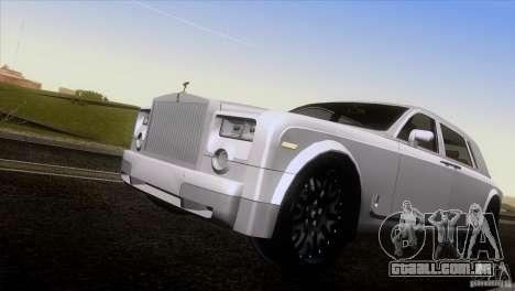 Rolls Royce Phantom Hamann para GTA San Andreas vista superior