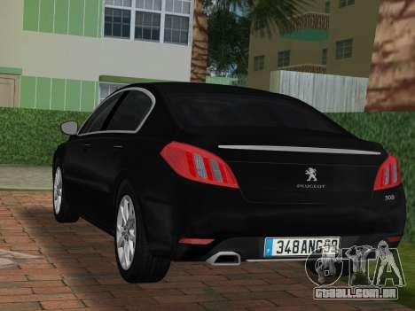 Peugeot 508 e-HDi 2011 para GTA Vice City deixou vista