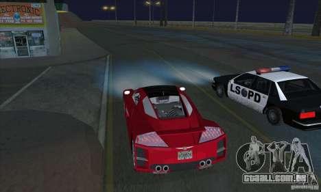 Xenon luzes (faróis de Xenon) para GTA San Andreas segunda tela