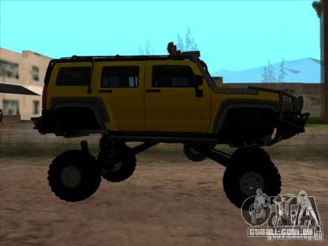 Hummer H3 Trial para GTA San Andreas esquerda vista