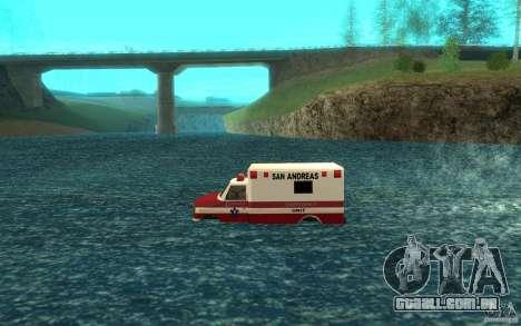 Ambulan boat para GTA San Andreas esquerda vista
