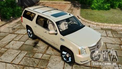 Cadillac Escalade ESV 2012 para GTA 4 vista inferior