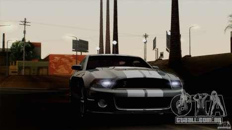 Ford Shelby GT500 2011 para GTA San Andreas traseira esquerda vista