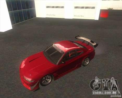 Nissan Silvia S15 with AKATSUKI paintjob para GTA San Andreas vista traseira