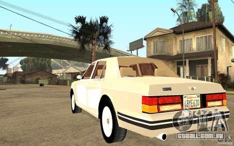 Bentley Turbo RT para GTA San Andreas traseira esquerda vista