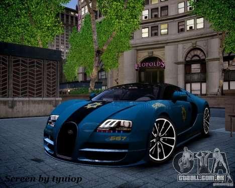 Bugatti Veryon SS COP para GTA 4 vista lateral