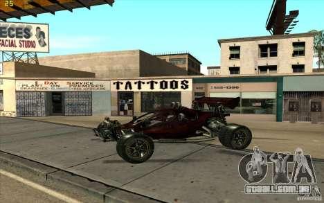 XCALIBUR CD 4.0 XS-XL RACE Edition para GTA San Andreas esquerda vista