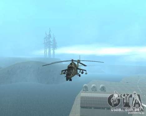 Mi-24 p para GTA San Andreas traseira esquerda vista