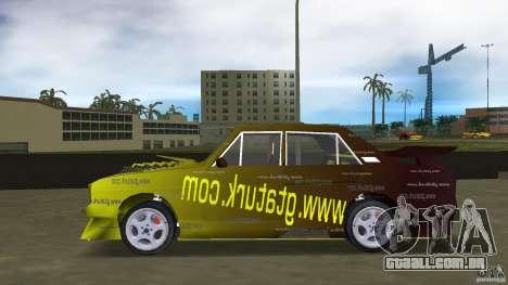 Anadol GtaTurk Drift Car para GTA Vice City deixou vista