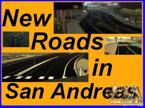 New Roads in San Andreas para GTA San Andreas