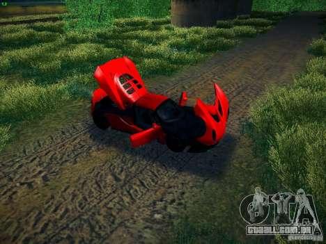 Hennessey Venom GT Spyder para GTA San Andreas vista traseira