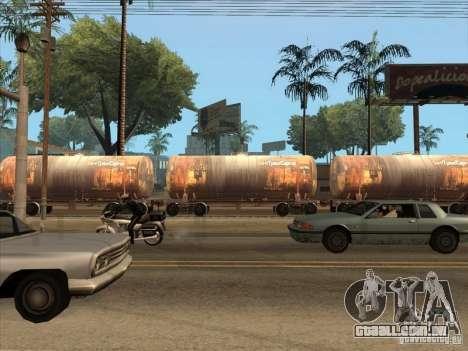 2 vagões para GTA San Andreas vista traseira