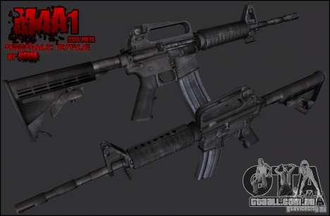 Colt M4A1 Commando Silenced para GTA San Andreas segunda tela