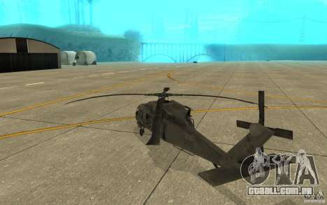 UH-60 Black Hawk para GTA San Andreas vista direita