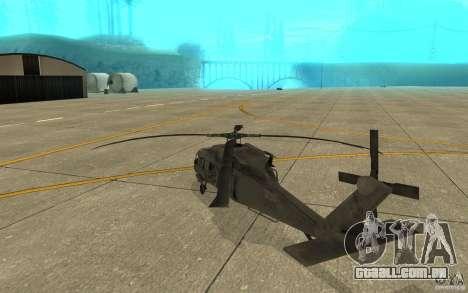 UH-60 Black Hawk para GTA San Andreas vista direita